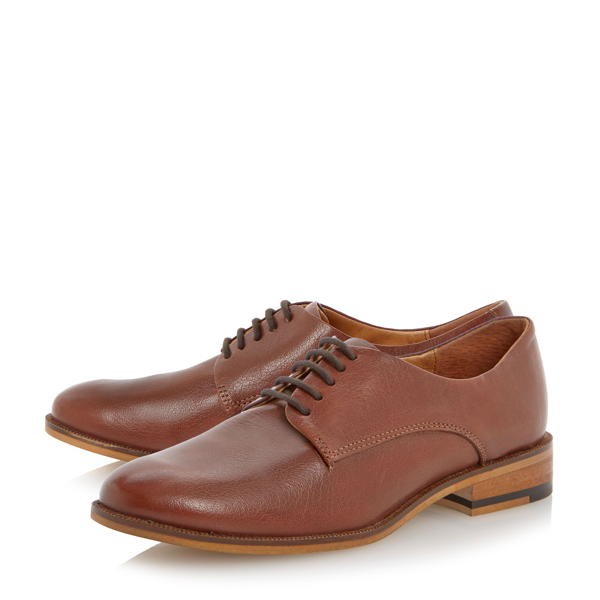 Latter leather lace up shoes