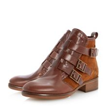 Podd triple buckle ankle boots