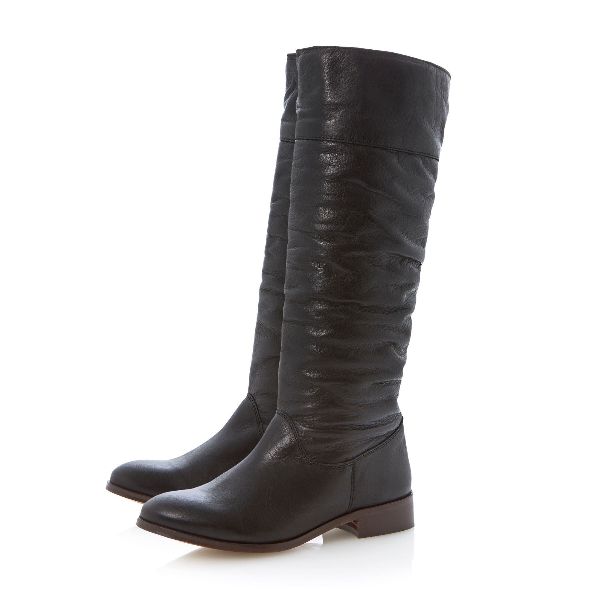 Tiffin pull on soft leather knee high boots