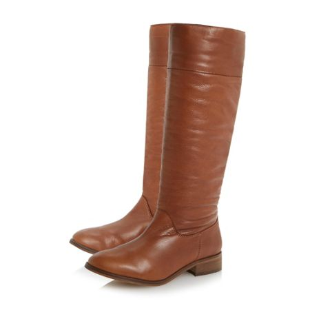 bertie tiffin pull on soft leather knee high boots