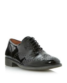 Leopold patent lace up brogues