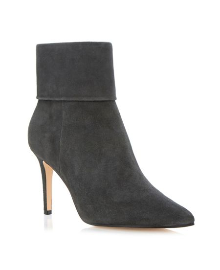 Dune Naturally Folded Suede Ankle Boot