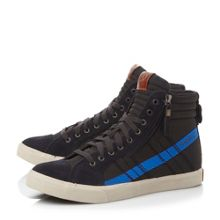 D-string side zip hi top trainers