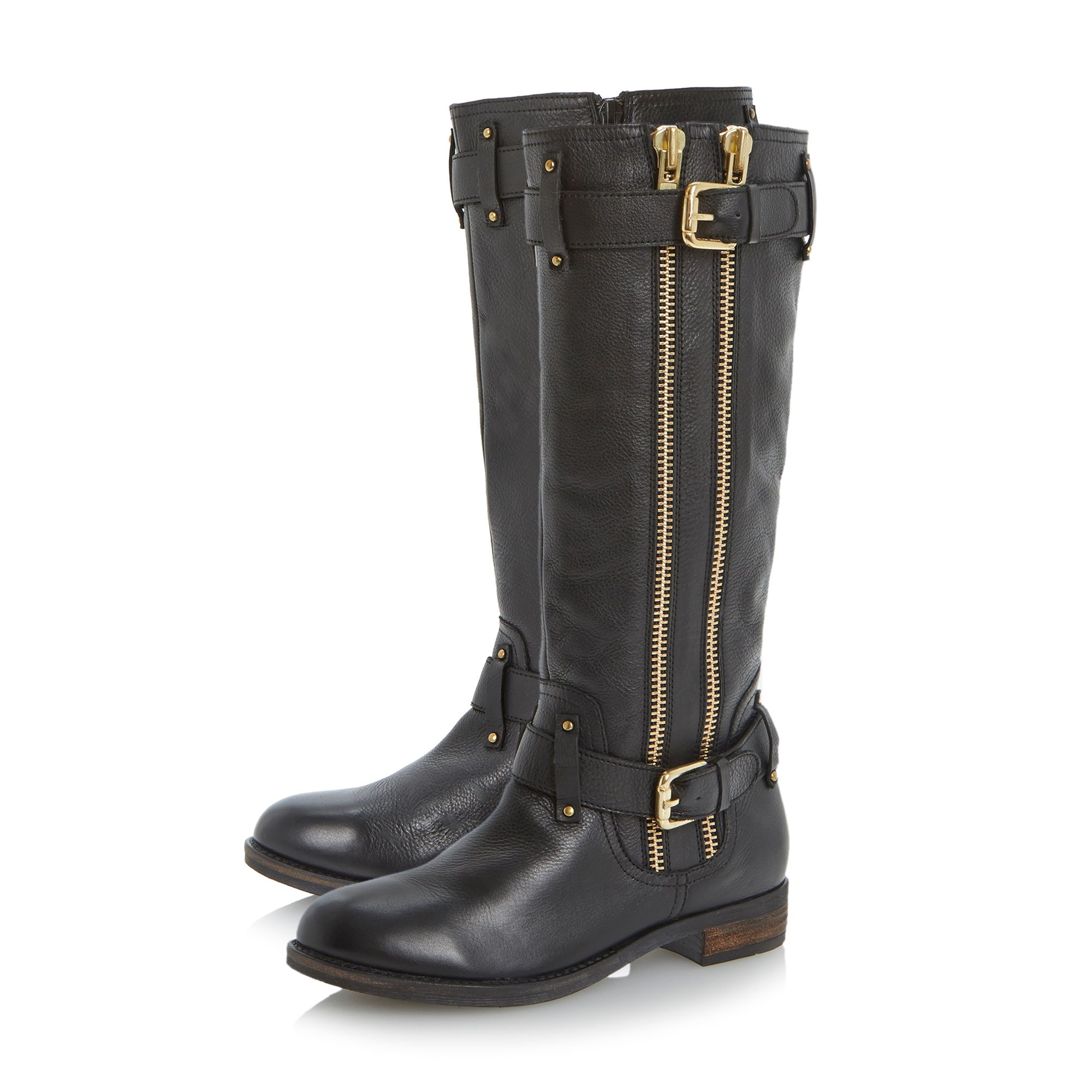 Traffik knee high biker boots