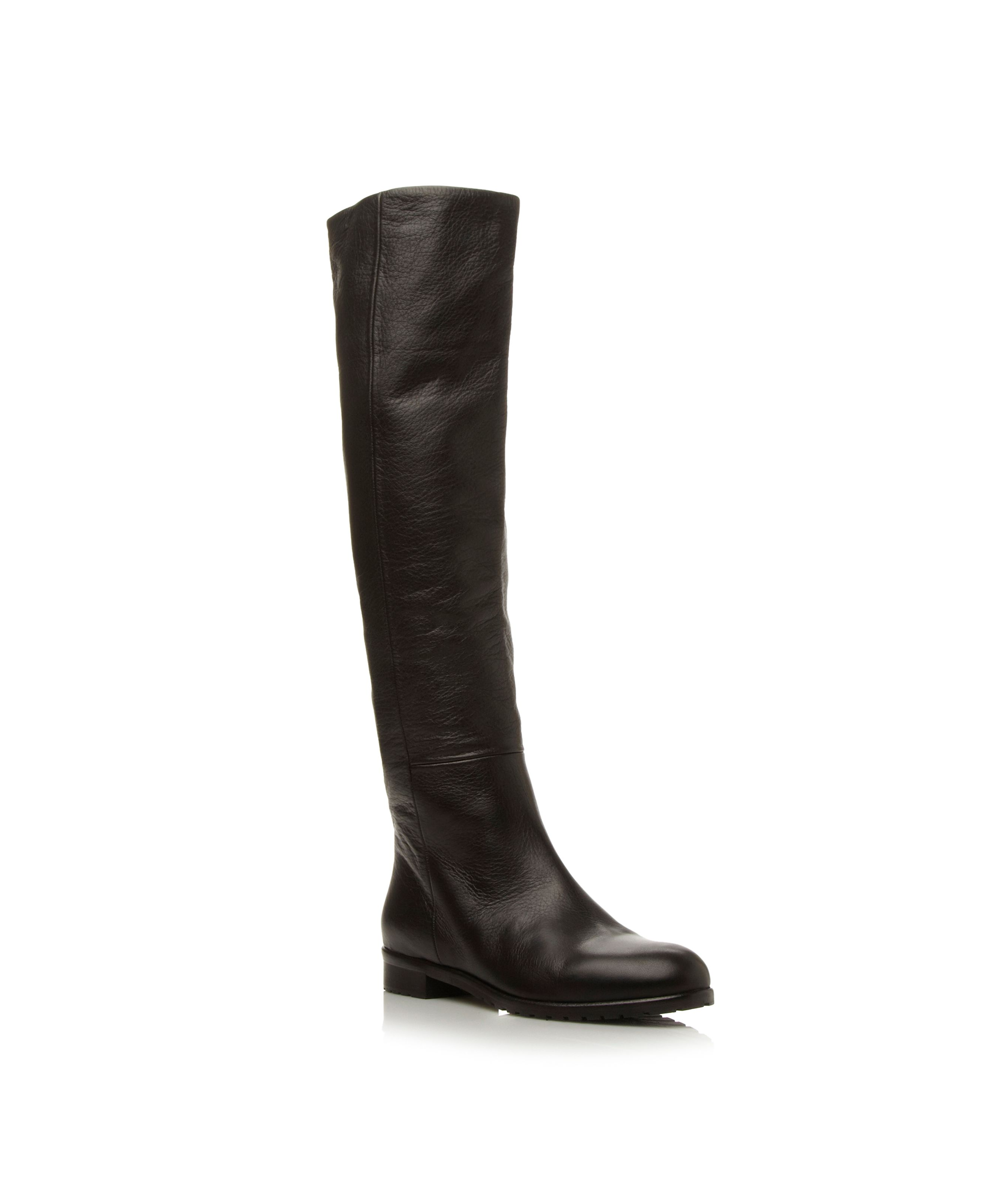 Tasmin flat point knee high boots