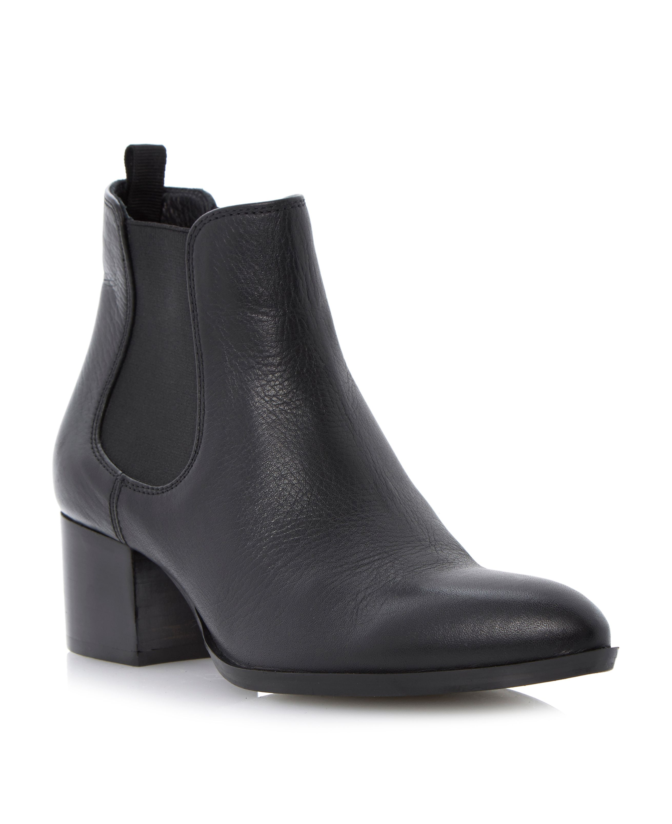 Perky low block point chelsea boots