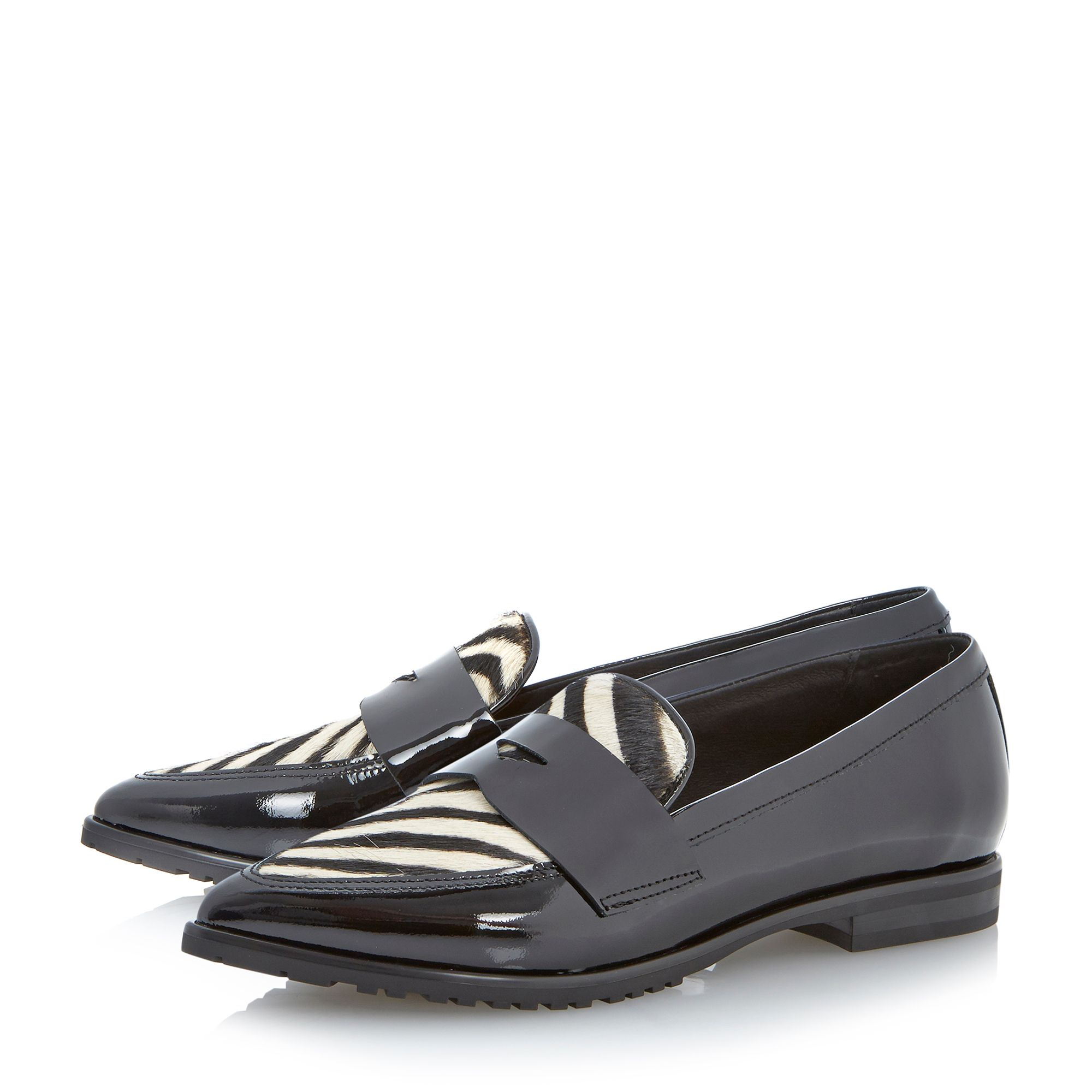 Hettie leather pointed loafers