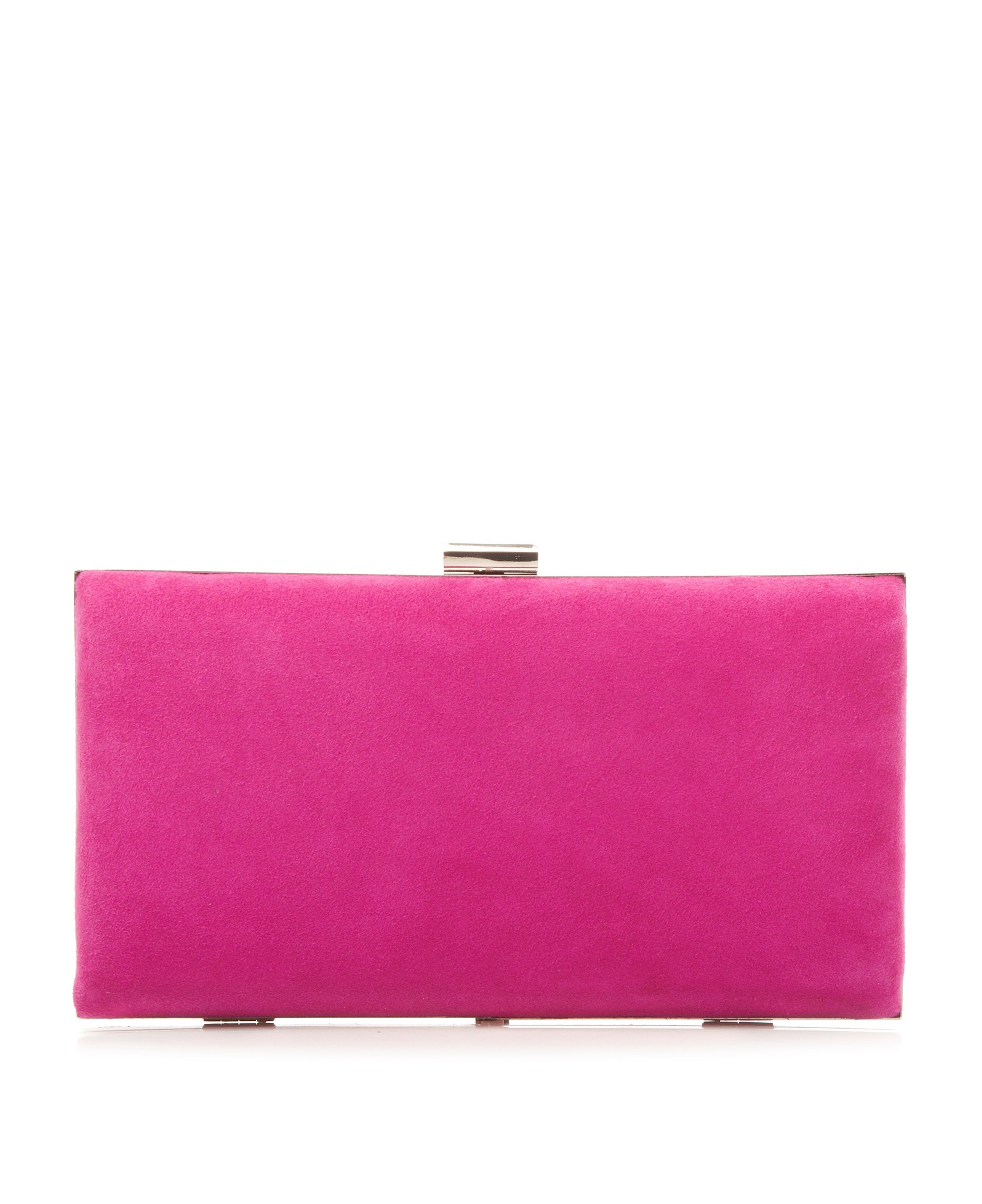 Barley hard case clutch bag