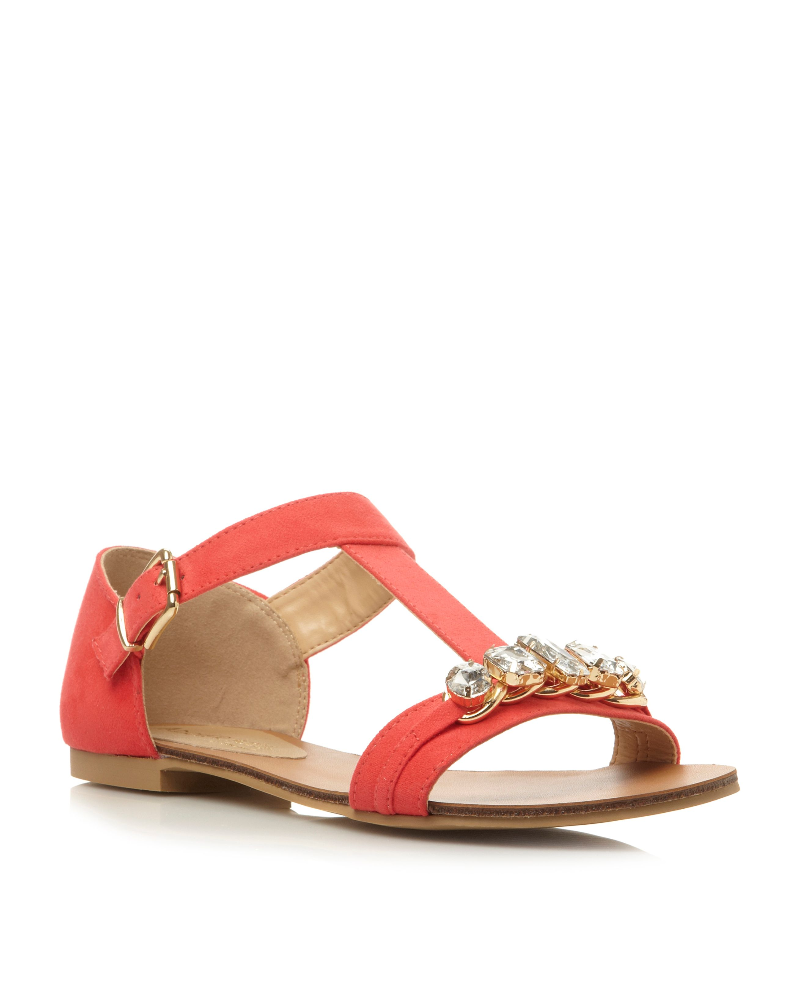 Bright jewelled h bar sandal