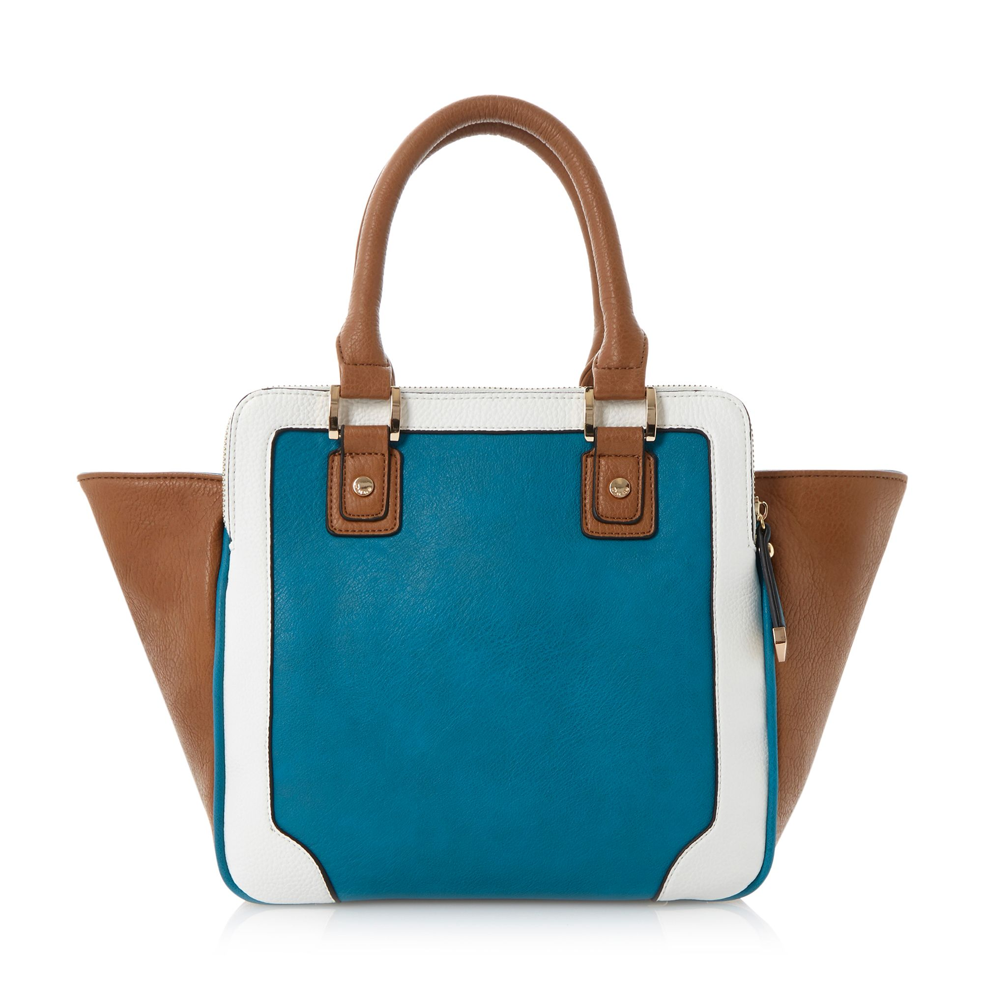 Dazhand winged colour block top handle bag