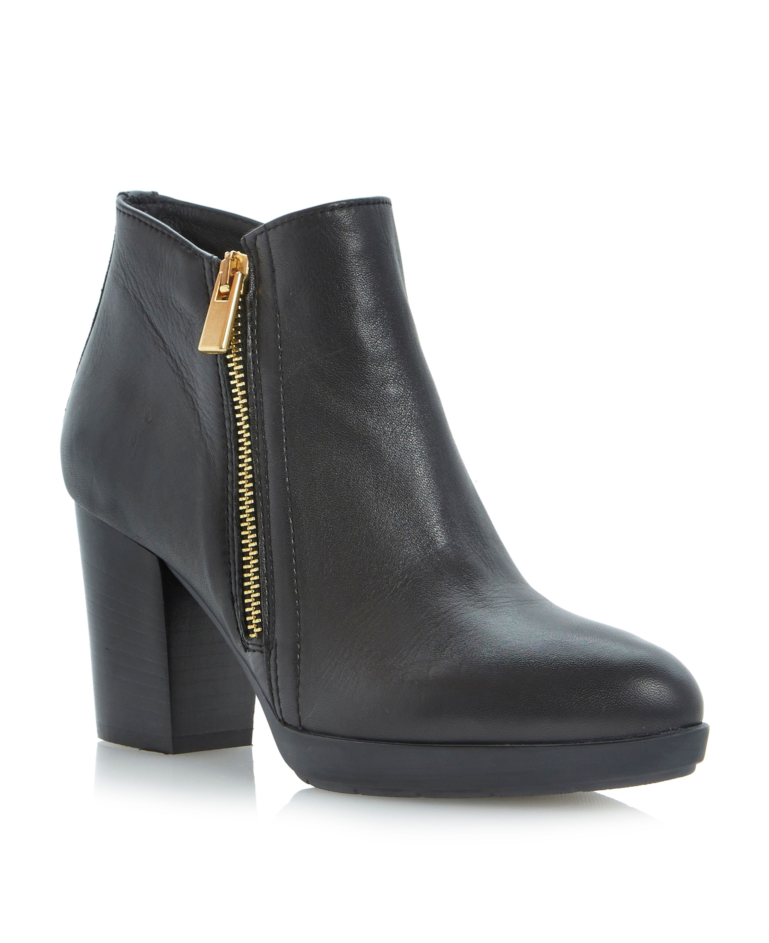 Ponto pointed toe platform ankle boots