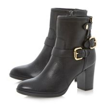 Pyramid Heeled Leather Calf Boot