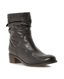 Pager Slouch Leather Ankle Boot