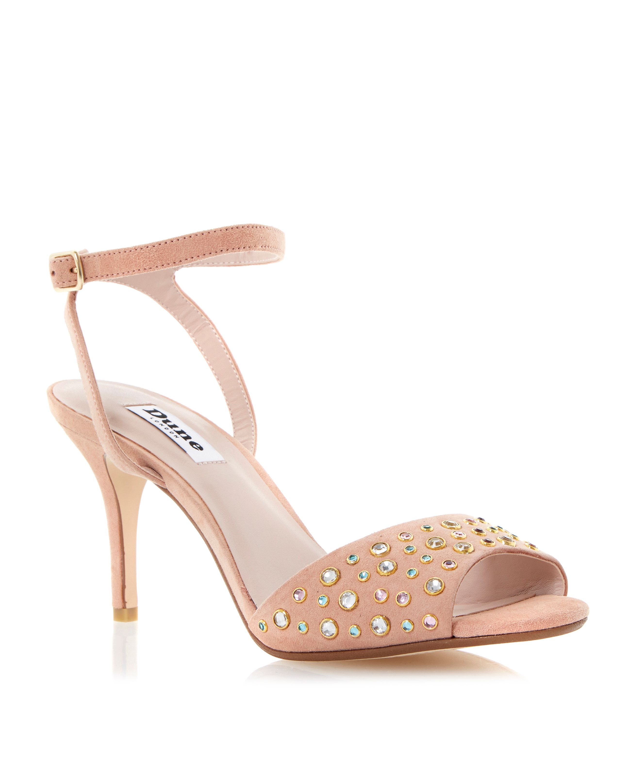 Hepburnn jewelled mid heel sandals