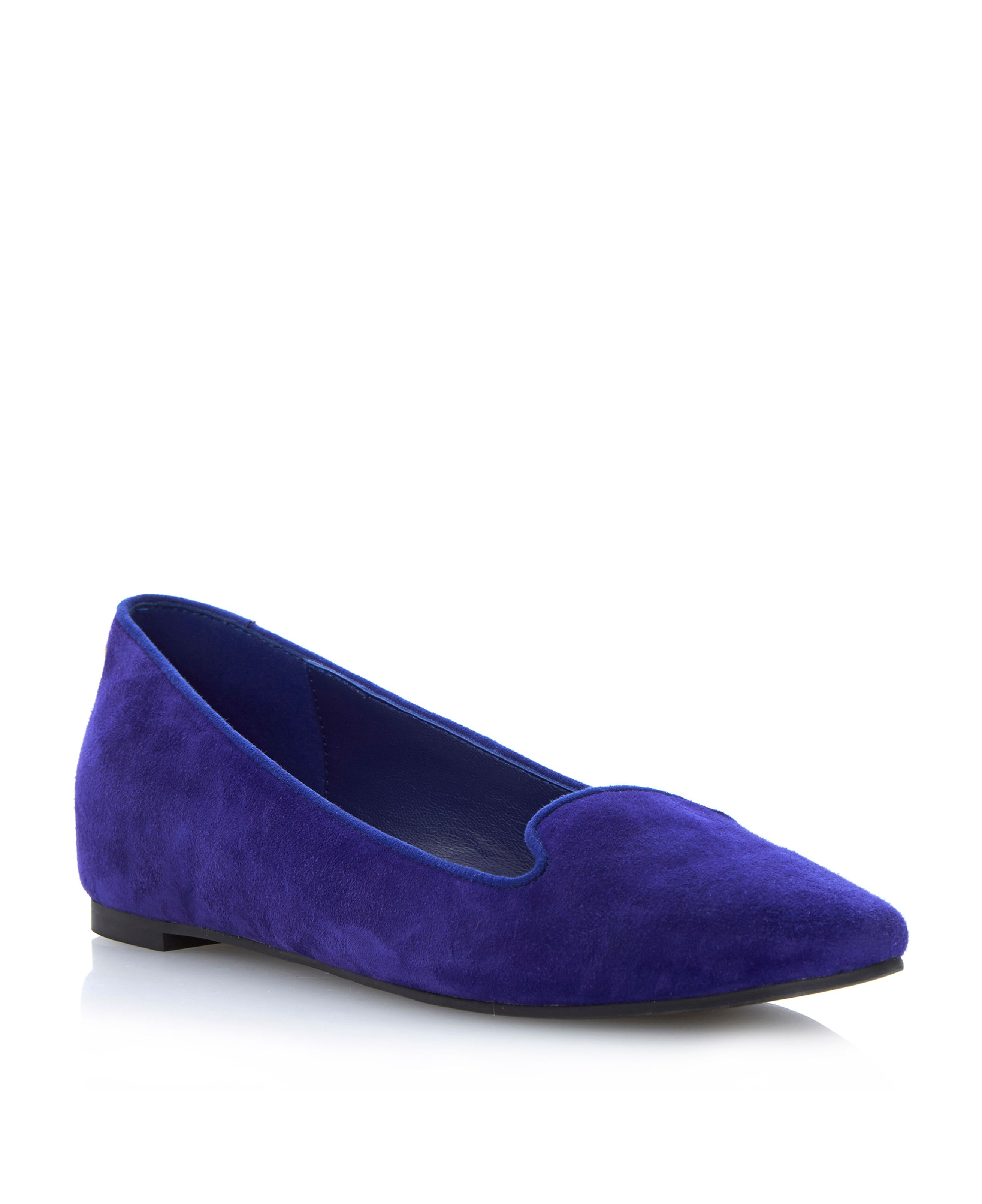 Luiza suede wedged slipper shoes