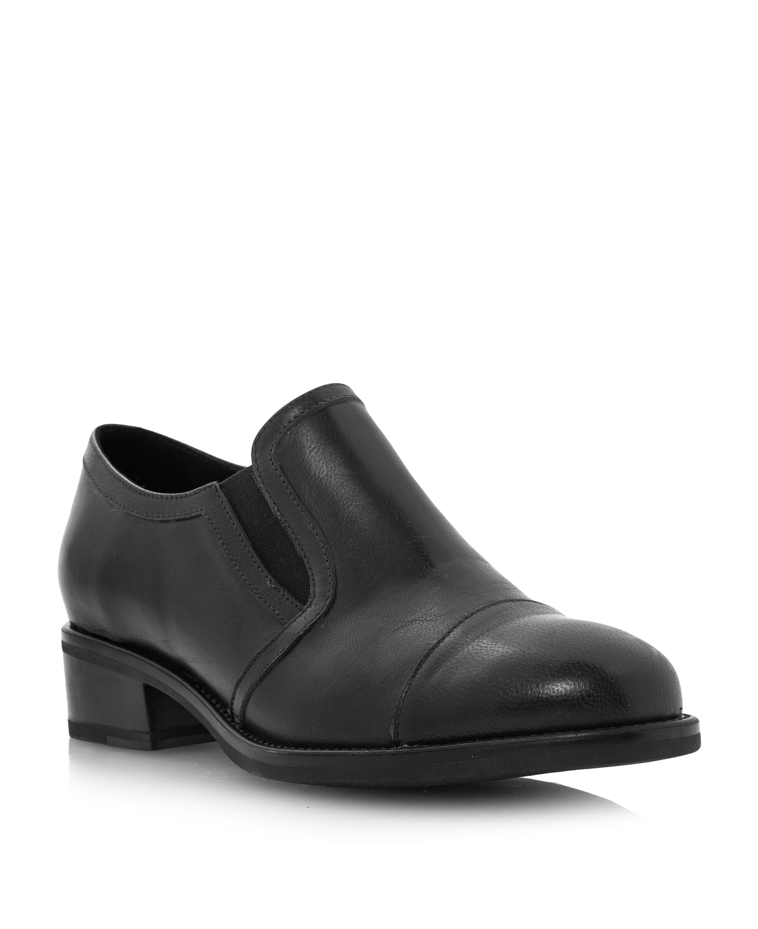 Lockton slip-on block heel loafers