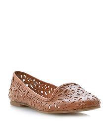 Londres leather almond toe flat shoes