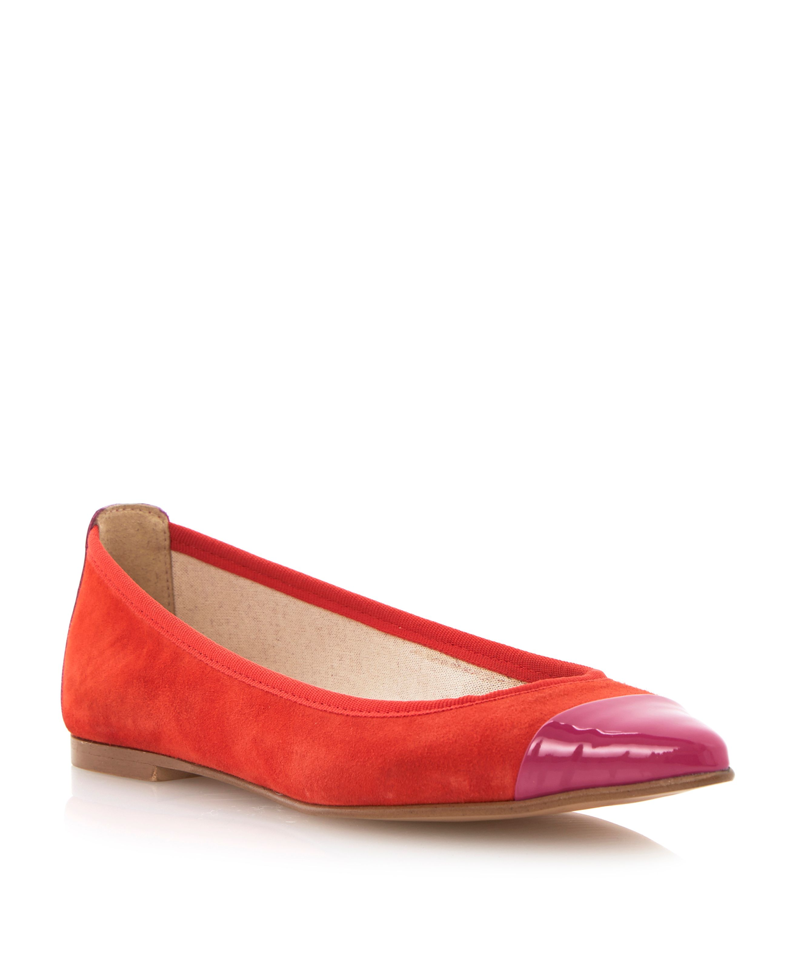 Monita toecap point ballerina pumps