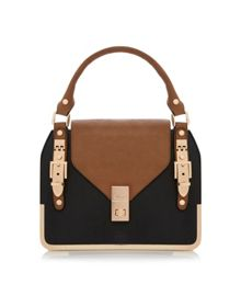 Deckles Buckle Front Flap Bag