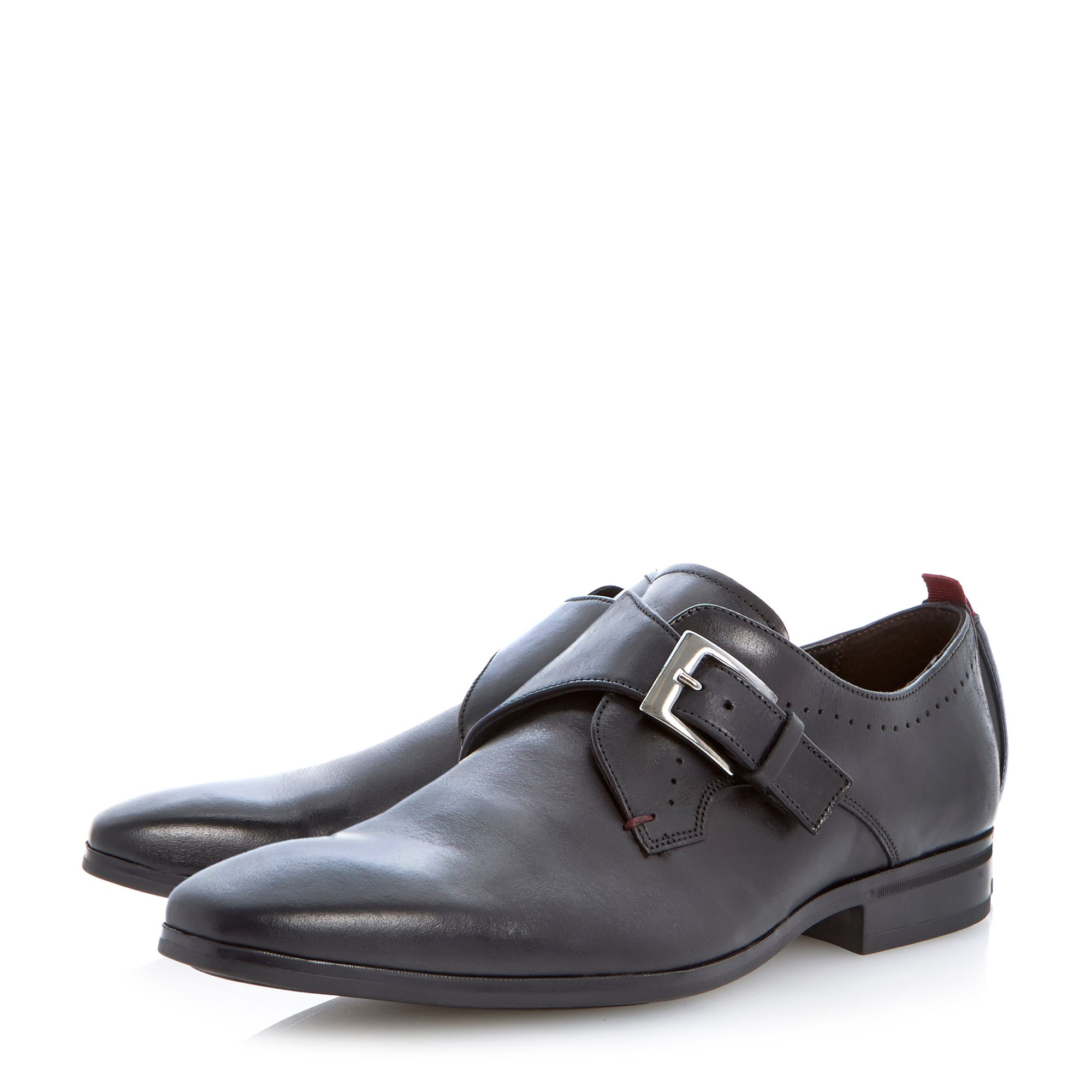 Resorted buckle monk shoes