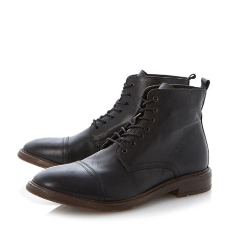 Bertie Combat toecap cleated lace up boots