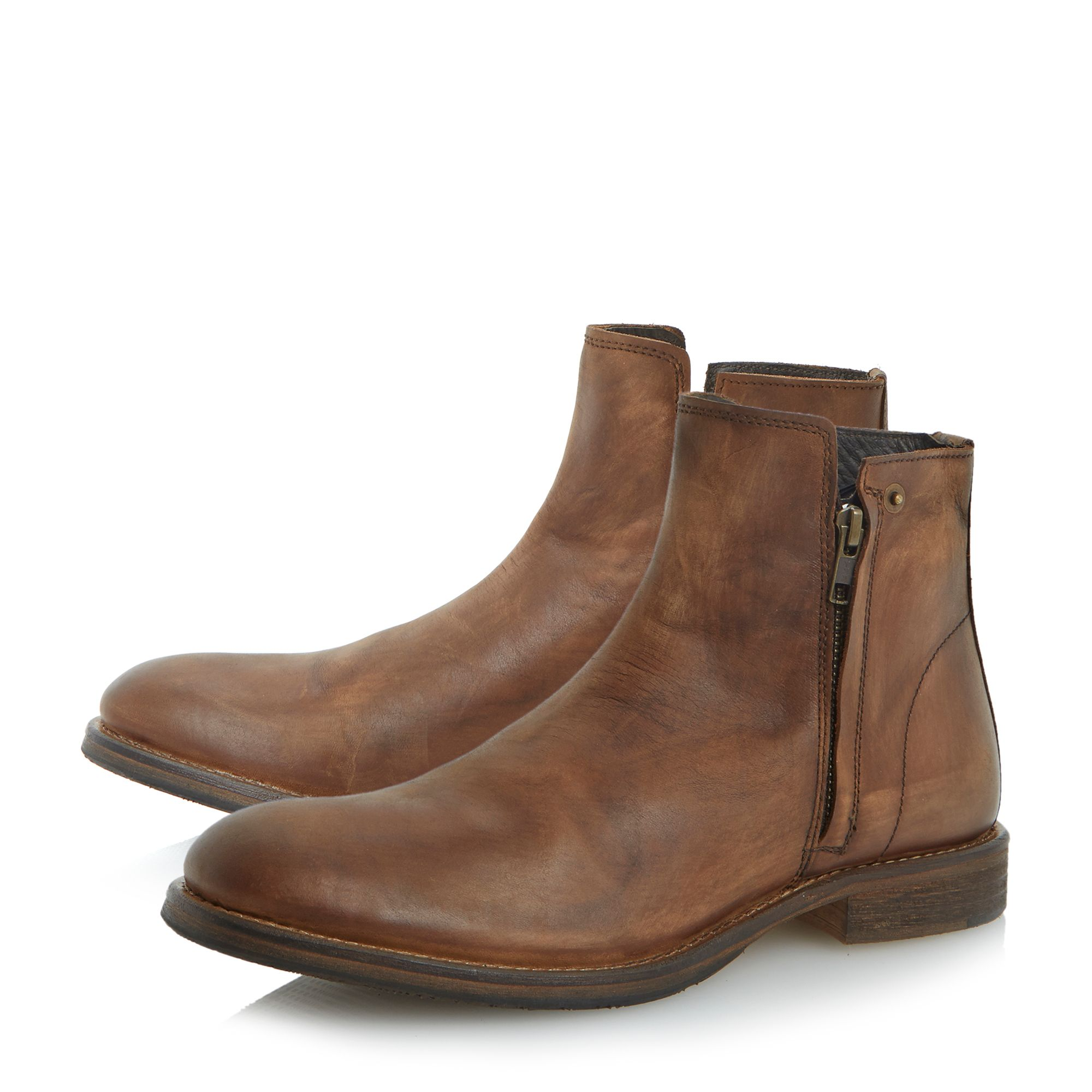 Campus doublezip washed look boots