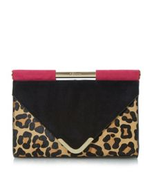 Ebarrio branded bar top envelope clutch bag