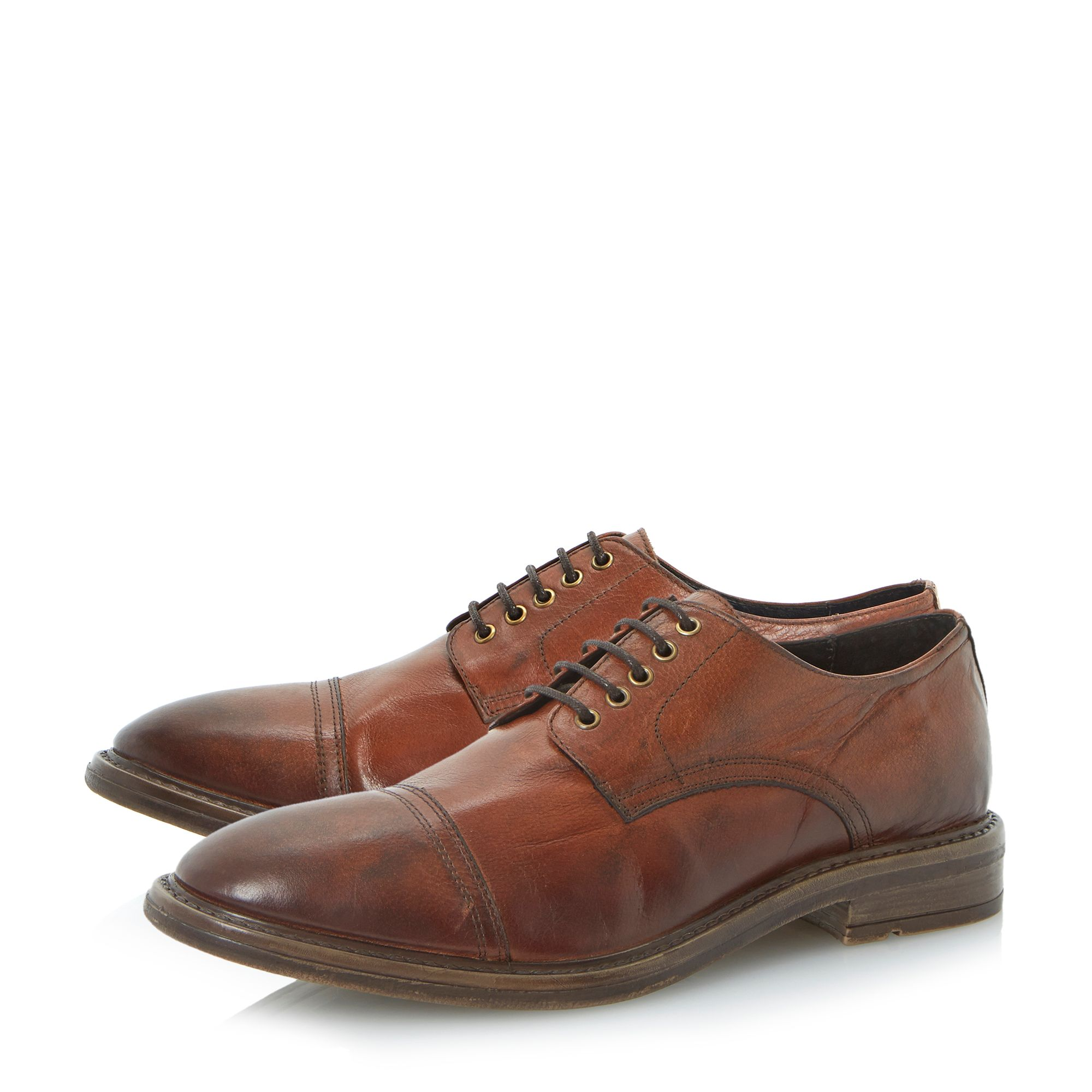 Benson toecap cleated lace up shoes