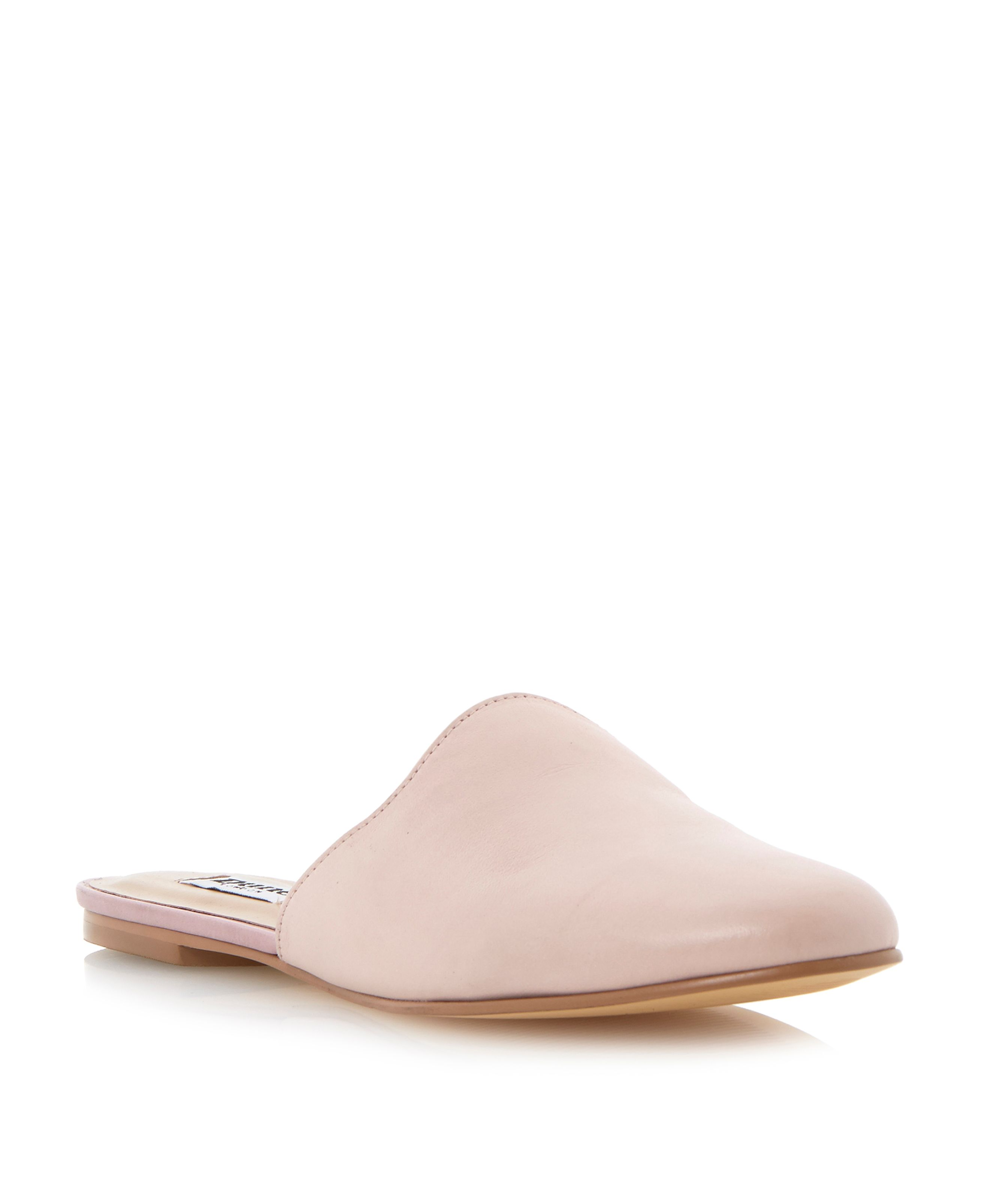 Larrick closed toe flat leather mules