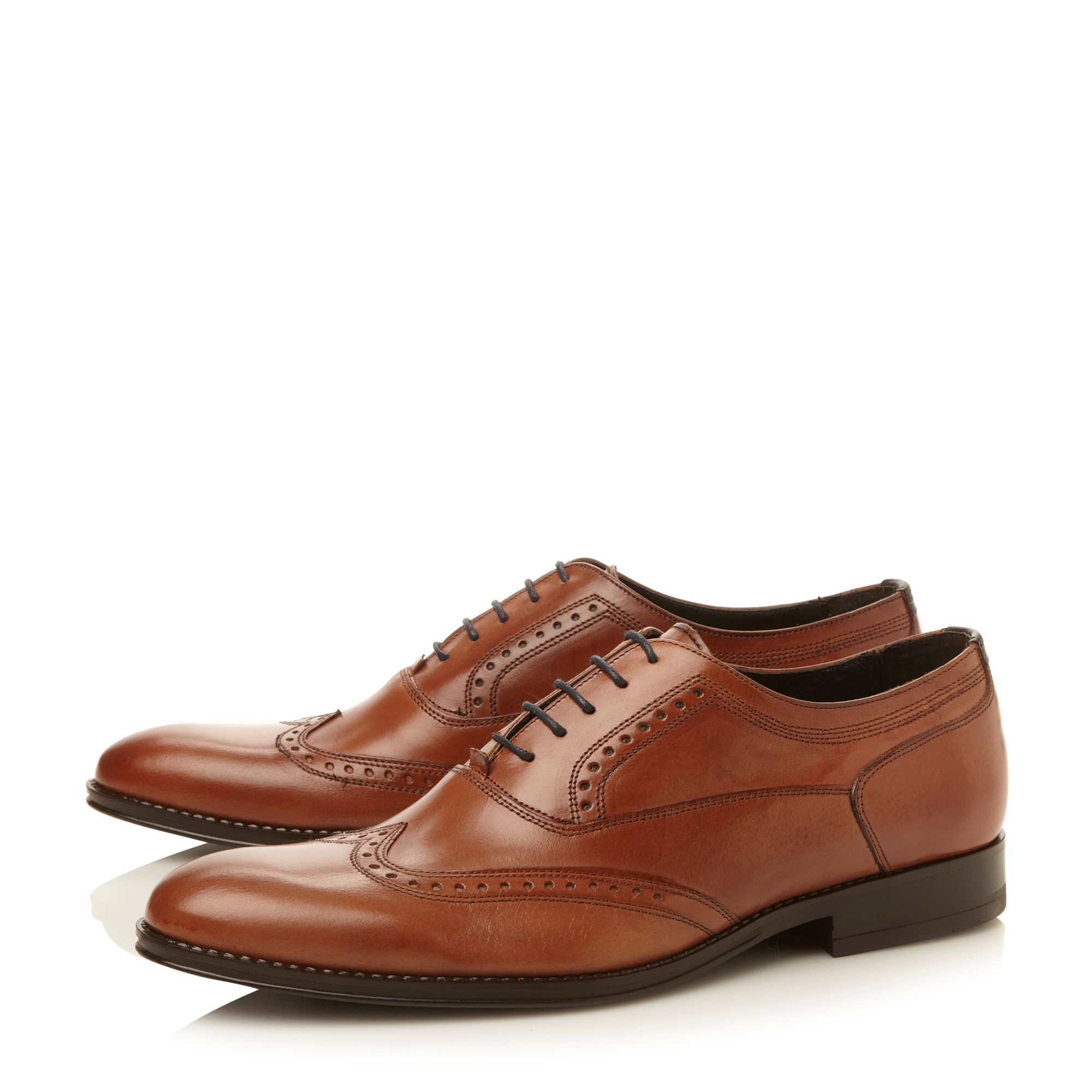 Rhodesy wingtip almond toe lace-up shoes