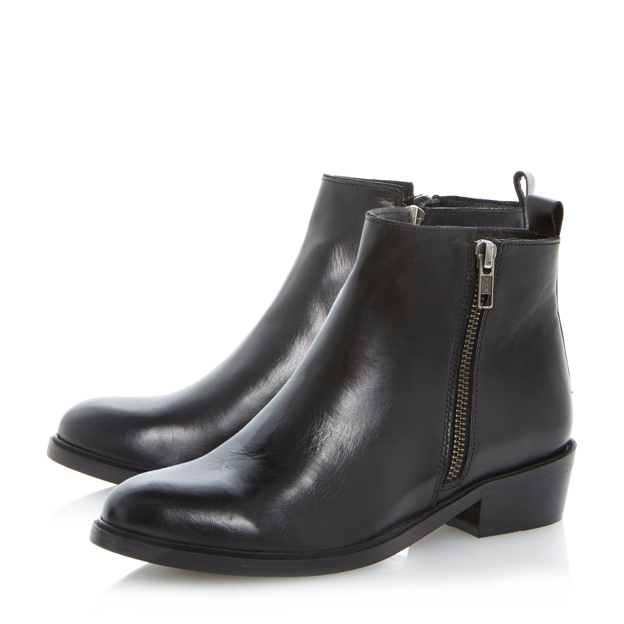 Pippie side zip leather ankle boot