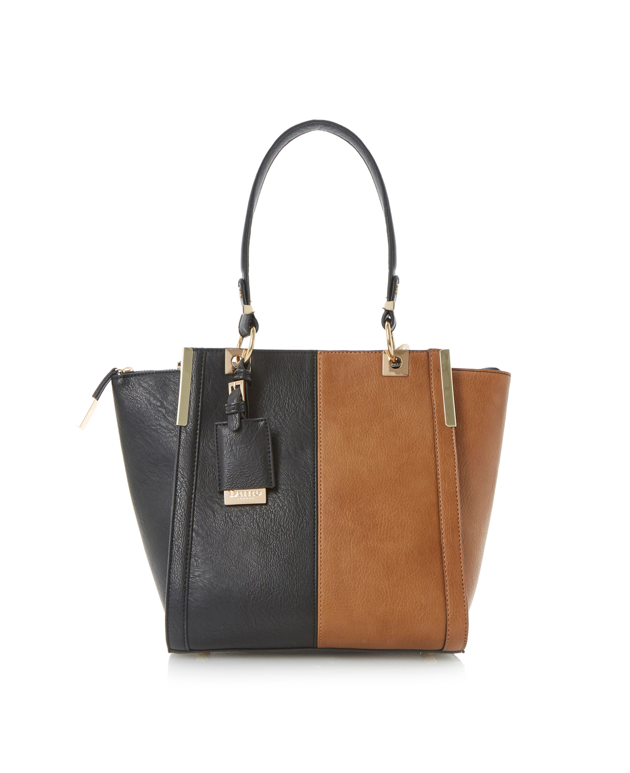 Dancer vertical colour block tote bag