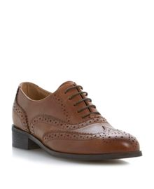 Helen leather block heel lace up shoes