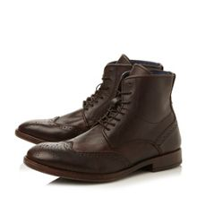 Cobbler lace up vintage style wingtip boots