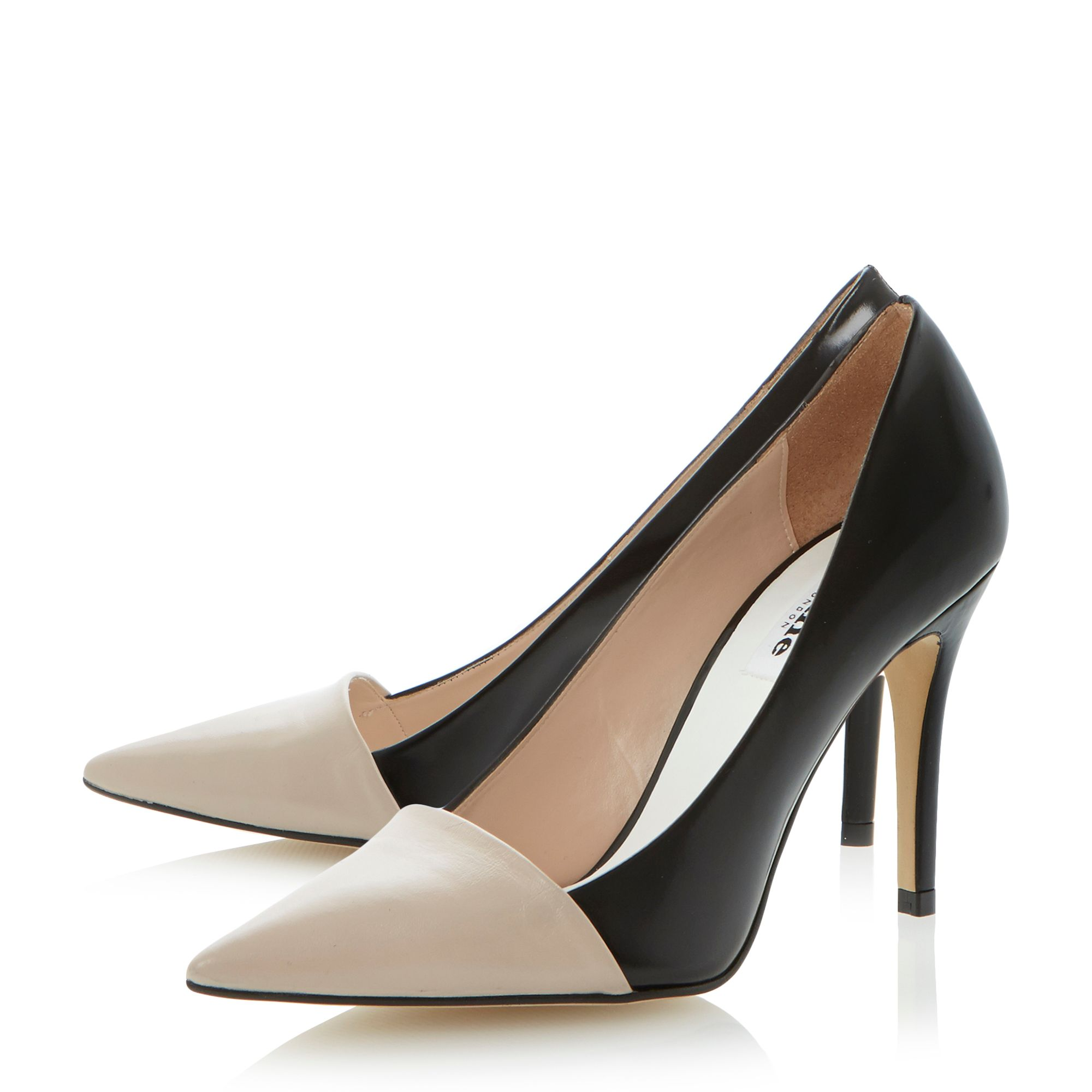 Amylyn overlasted vamp pointed toe court shoes