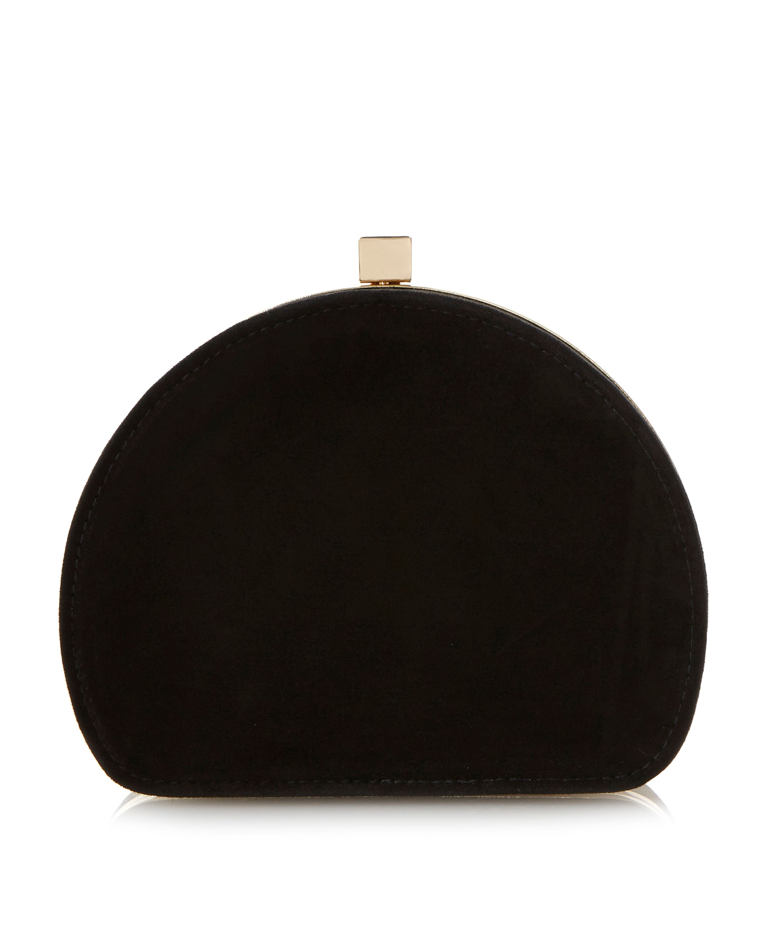 Eva suede oval clutch bag