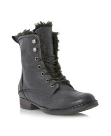 Purr Leather Lace Up Ankle Boot