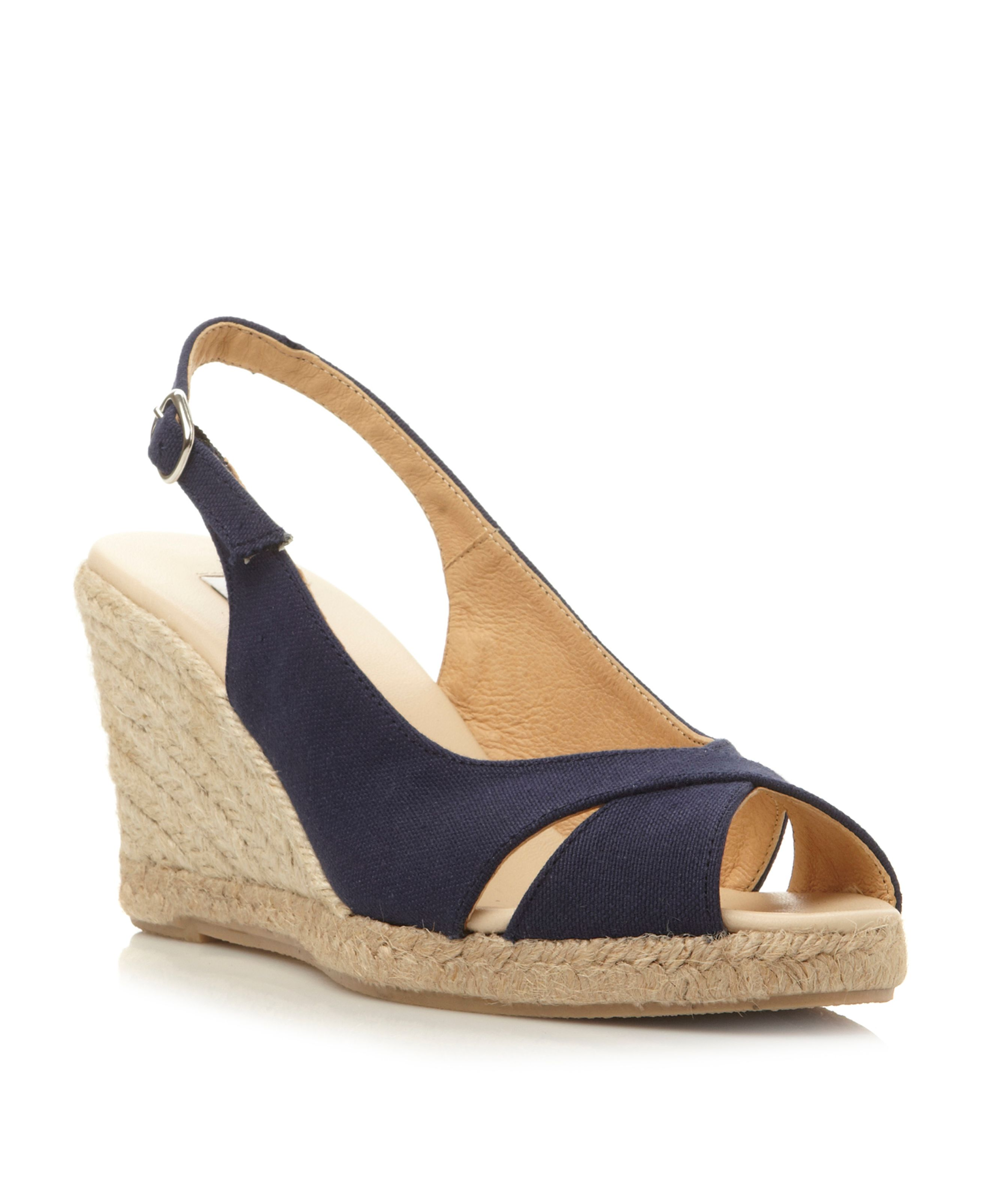 Galliant sling back fabric espadrille