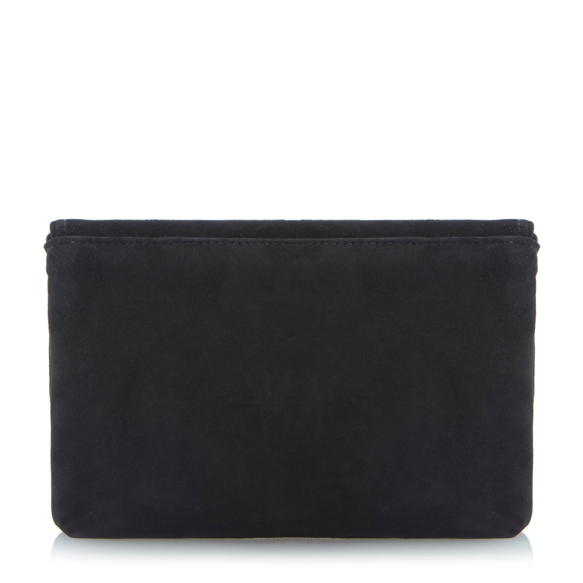 Beauti padlock suede clutch bag