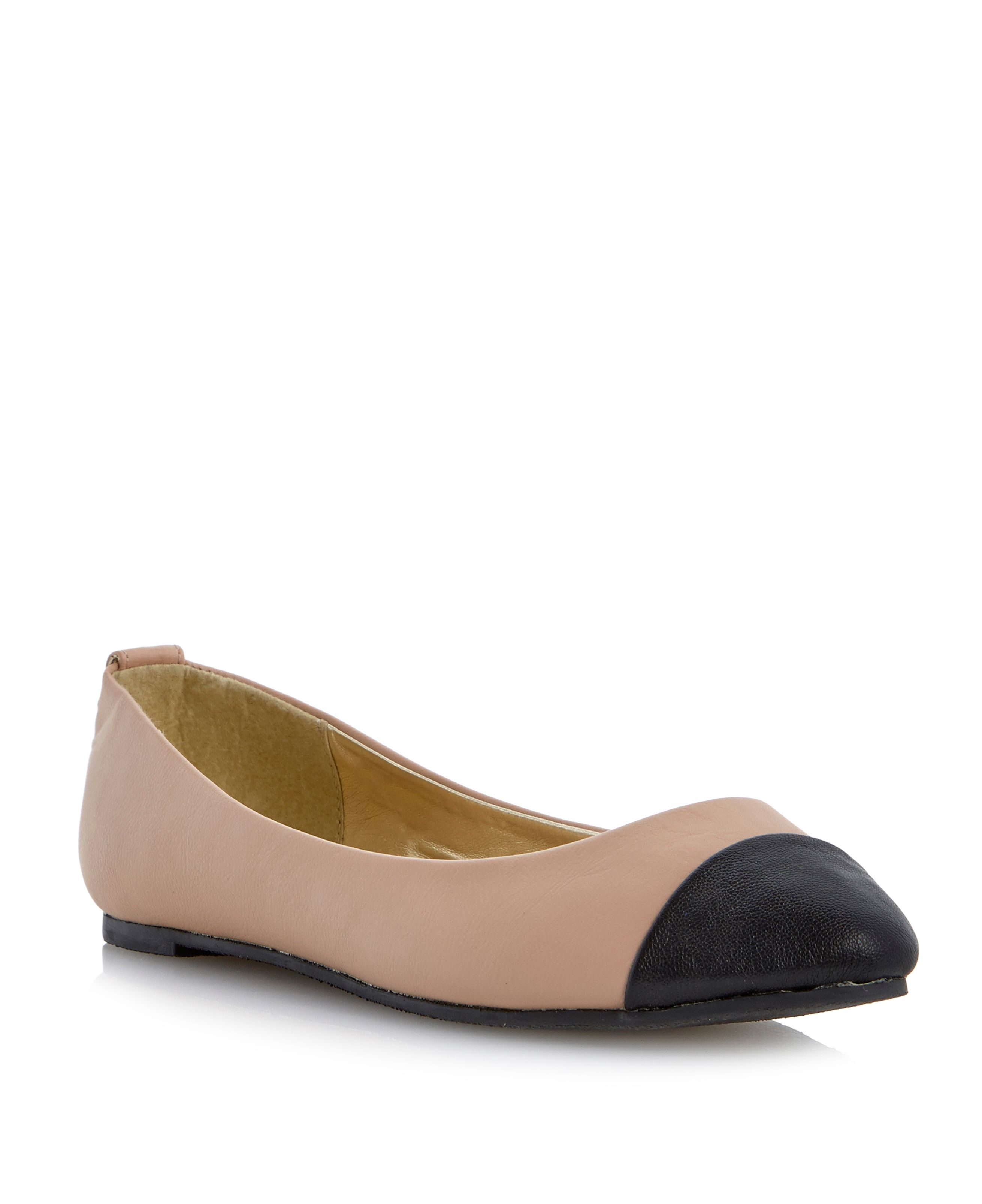 Megan almond toe ballerina shoes