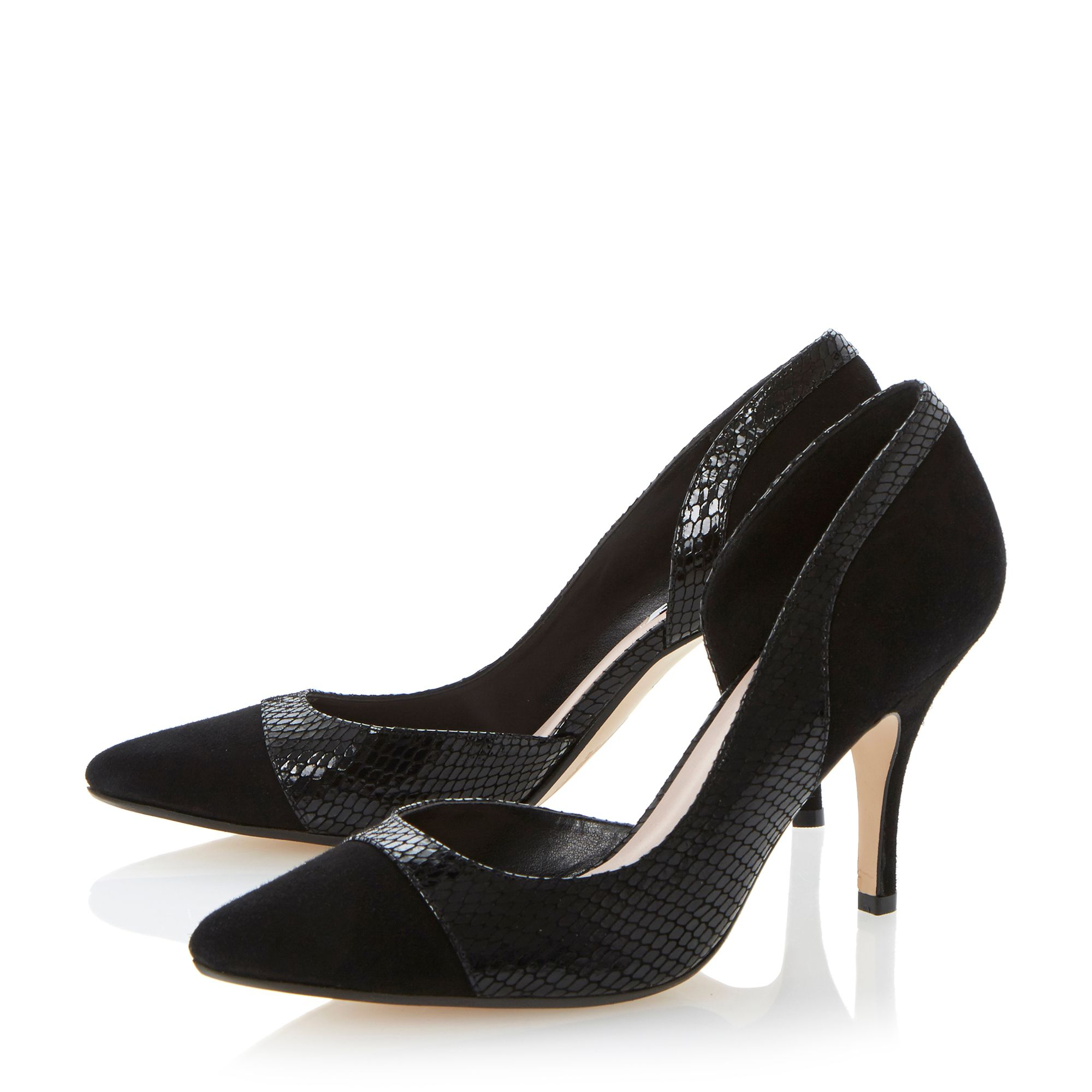 Constance semi dorsay toe cap court shoes