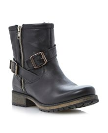 Promiss Buckle Biker Ankle Boot