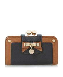 Colourblock Bow and Disc Detail Purse