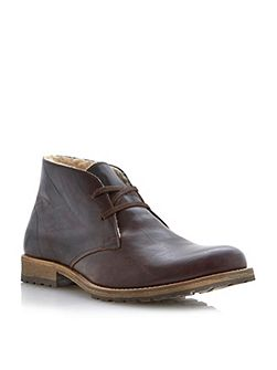 Dune Columbo lace up lined 2 eye chukka
