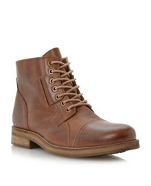 Colin lace up tab eyelet toecap boots