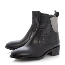 Price materialmix elastic ankle boots