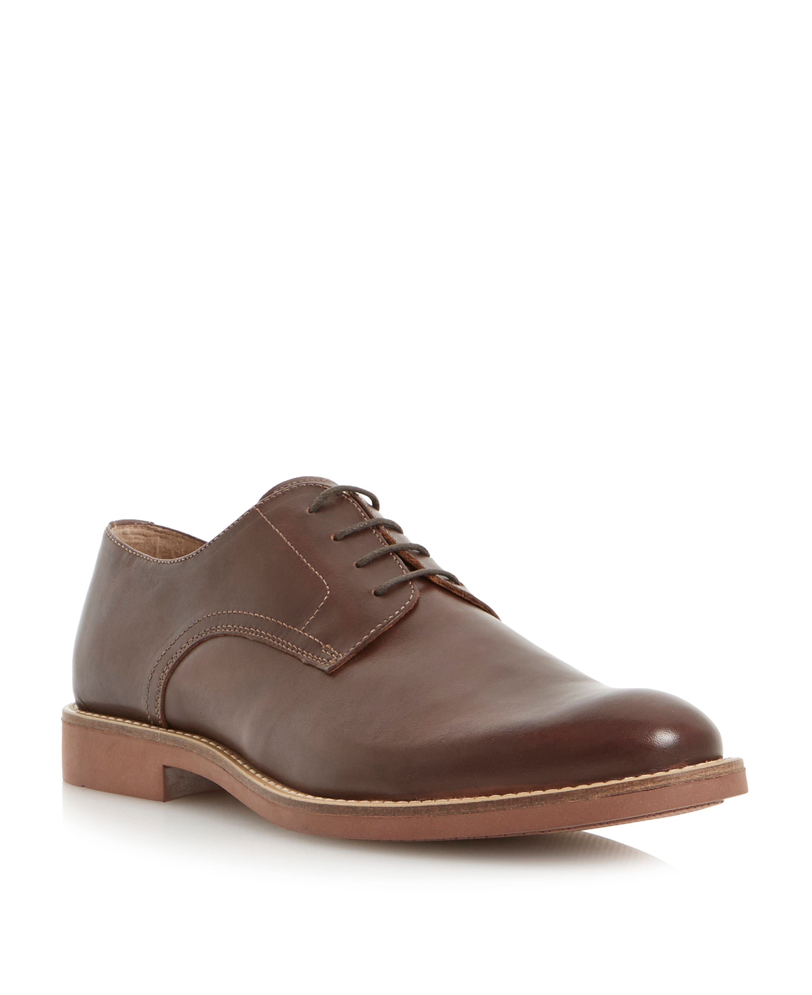 Babel leather lace up gibson shoes