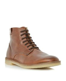 Cigar lace up boots