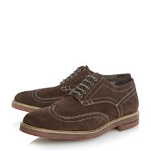 Birdcage brick sole suede lace up brogues