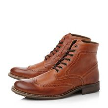 Chancer round toe wingtip lace up boots